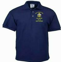 USS NITRO  AE-23  NAVY ANCHOR EMBROIDERED LIGHT WEIGHT POLO SHIRT