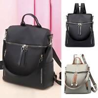 Zipper Nylon Backpack Rucksack Shoulder Bag Pack Travel Crossbody Handbag Ladies