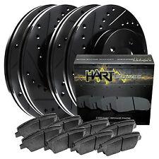 [FULL KIT] BLACK HART DRILL/SLOT BRAKE ROTORS & PADS-Audi TT QUATTRO 00-06 1.8L