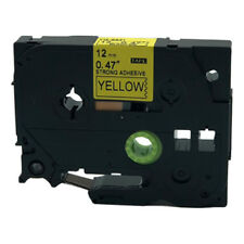 Compatible Brother P-Touch TZe TZ Label Tape Cartridge TZe-S631 Black on Yellow