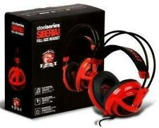 SteelSeries Siberia V2 Gaming Headset - Red - Up to 7.1 Surround - Retractable