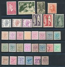 Belgium **32 DIFFERENT (1928-1972)**, MNH, MH & USED; INCLUDES #450 MNH