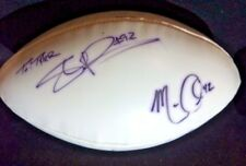 CRIS DISHMAN, Houston Oilers All-Pro & MARCUS COLEMAN signed football + 3 others