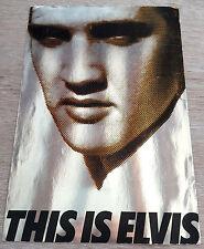 ELVIS PRESLEY THIS IS ELVIS PROMO FOILD CARD ORIGINAL WARNER US 1981