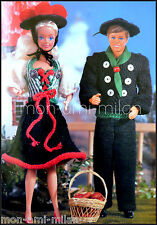 Vintage Knitting Pattern • BARBIE & KEN DOLLS CLOTHES • BLACK FOREST COSTUMES