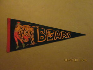 NGL Chicago Bears Vintage Circa 1950's Style #2 Colorful Logo Football Pennant