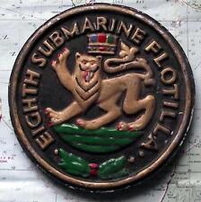 Old United States Navy Metal Plaque Tampion Crest USS 8TH SUBMARINE FLOTILLA
