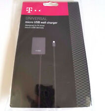 NEW T-Mobile Micro-USB Wall Charger with 4ft Cable & USB Port - Gray