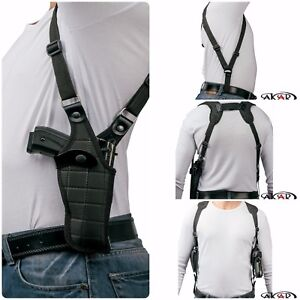 """Vertical Carry Shoulder Holster for S&W M&P 9 40 45 4.25"""" - Checkerboard Pattern"""