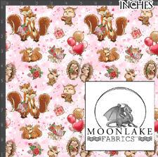 Valentine Forest Love Repeat Pattern 100% Quality Cotton Poplin Fabric