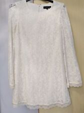 Topshop Tall Cream Lace Shift  Dress  Size 12  Ladies Womens