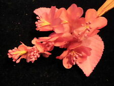 """Vintage Millinery Flower 1 1/4"""" Pink Blossoms for Hat Wedding or Hair Y243"""