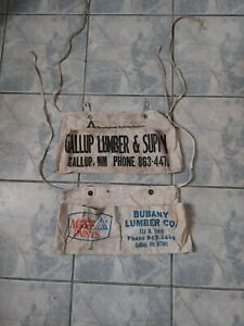 Vintage Cloth Advertising Carpenters Nail Apron  Gallup new mexico