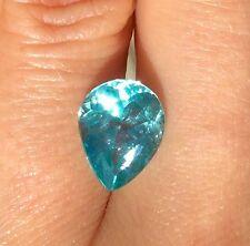 3.78ct natural earth mined Ravishing blue neon Color Apatite gem pear shape