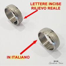 ANELLO ITALIANO AVE MARIA ACCIAIO TONDO PADRE NOSTRO BOMBATURA PREGHIERA tl