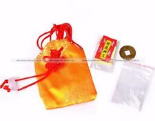 Lucky Charm Amulet FU Bag Shurangama Mantra Coin Chinese