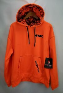 Kryptek Mens Hoodie Fleece Sweatshirt Size Large Inferno Orange Blaze Hunting