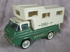 1960s Green Pressed Steel NYLINT Ford Econoline Van with Camper Attachment