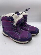 Mountain Warehouse Child Walking Boots Isodry Kids Size 1 Purple Blue Pink Lined
