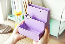 DIY Paper Board Storage Box Desk  Stationery Makeup Cosmetic Organizer PURPLE