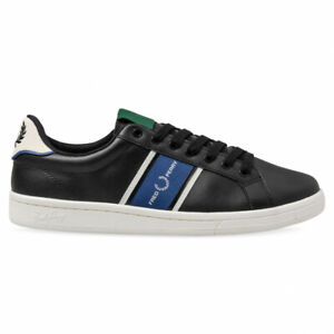 2020 Fred Perry B8301 Authentic Shoes B721 Leather Black