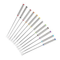 "Set of 6/12 Stainless Steel Fondue Forks 9.4"" - Color Coding Cheese Fondue Forks"