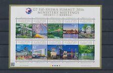 LL97575 Japan 2016 G7 summit views landscapes good sheet MNH