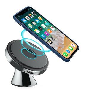 Cargador De Coche Rápido Inalámbrico Qi Mount Para Samsung S21 Ultra IPhone 12