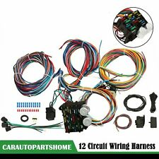 12 Circuit Wiring Harness Wire For Chevy Mopar Ford Street Hot Rod Universal New