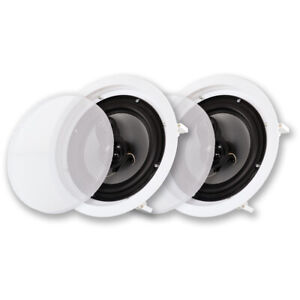 """Acoustic Audio CSic83 Flush Mount In Ceiling Speakers with 8"""" Woofers 1 Pair"""