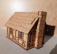 28mm Fantasy Tudor Style Small House T4B 2mm MDF Laser Cut Kit