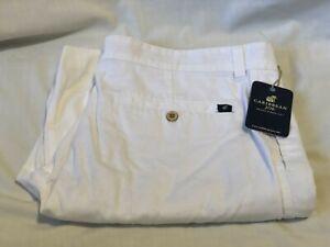 CARIBBEAN JOE White Cotton Casual Shorts Chinos Mens size 38 NWT NEW