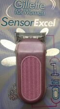 Gillette Sensor Excel Women Handle Nip Made in USA w/ blade Very Rare One blade