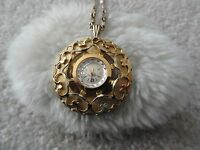 Vintage 17 Jewels Andre Bouchard Wind Up Necklace Pendant Watch