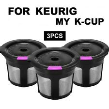 3PCS Reusable Refillable K-Cup Coffee Filter Tea Pod for Keurig Breville K cup