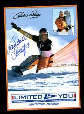 Claudio Riegler Autogrammkarte Original Signiert Snowboard + A 134018