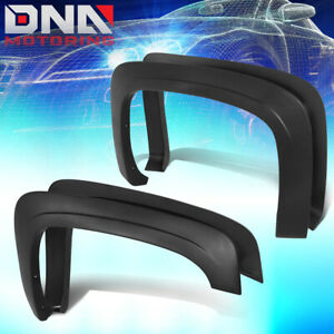FOR 2007-2013 CHEVY SILVERADO FLEETSIDE OE STYLE PAINTABLE WHEEL FENDER FLARES