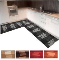 Tappeto cucina angolare passatoia su misura al metro antiscivolo corsia bordata