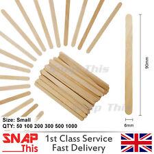 Face Hair Applicator Spatulas Thin Depressors Eyebrow Sticks Wooden Waxing Wax
