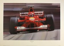 "GRAHAM BOSWORTH ""Michael Schumacher"" F1 ferrari car NEW SIZE:39cm x 61cm  RARE"