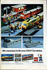 LEGO -- tutto Passaggio visualizzata nella nuova ferrovia LEGO -- STAZIONE -- Pubblicità di 1982 -