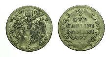pcc1582_4) Stato Pontificio Pio VI (1775-1799) - 2 Carlini 1777  TONED
