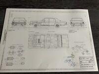 Opel Diplomat B 5,4 1969 Konstruktionszeichnung// Blueprint.