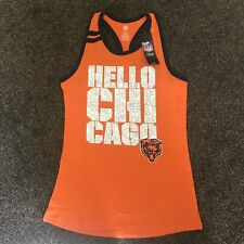 Chicago Bears Girls HELLO CHICAGO Sparkle Racerback Tank Top Large (14) NWT