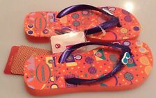GIRL'S HAVAIANAS FUN FLIP FLOPS - SALMON - BRAND NEW SIZE 29/30 - UK 12