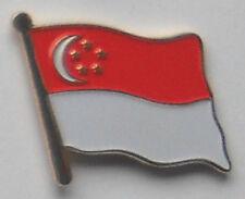 Singapore Country Flag Enamel Pin Badge
