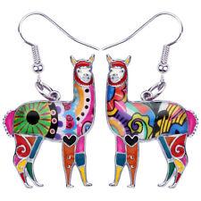 Alloy Enamel South America Alpaca Earrings Dangle Animal Jewelry For Women Gifts
