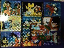 DRAGON BALL Z USA TRADING CARD PART 1 FULL SET 10 PRISMS + 50 REGULAR CARD SET