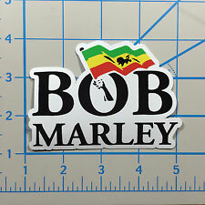"Bob Marley 5"" White Vinyl Decal Sticker BOGO"