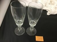 Pair of Cut Crystal Champage Flutes Glasses